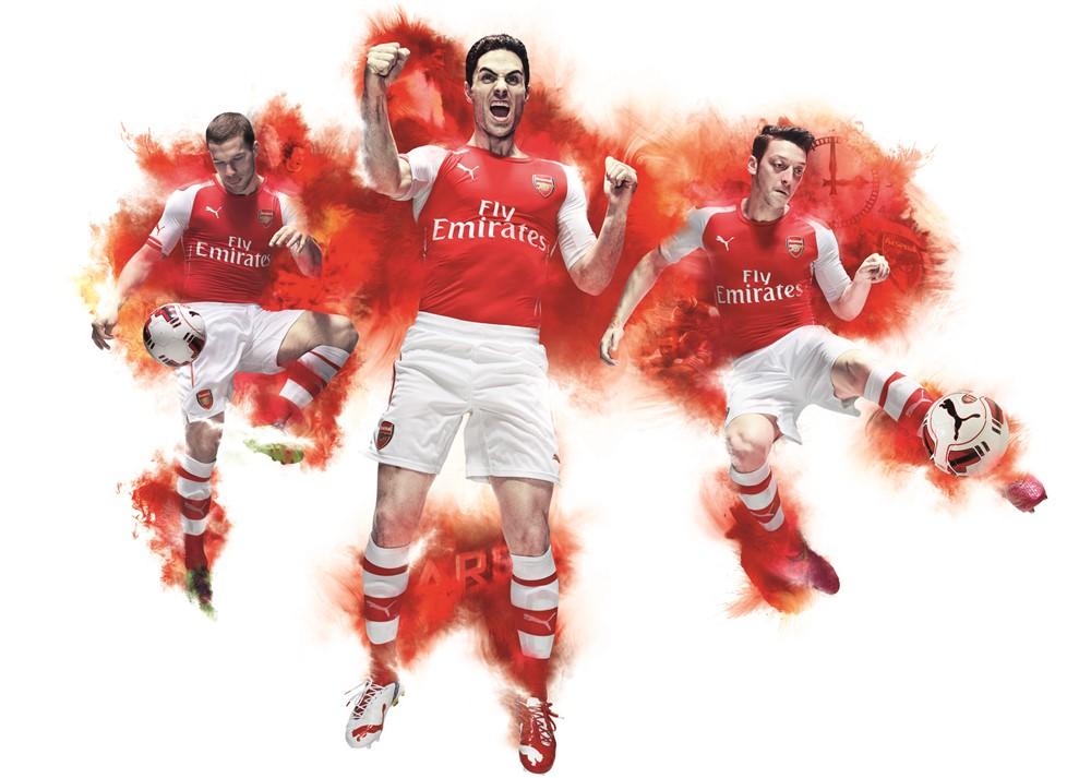Arsenal home kit 14/15