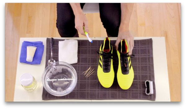 how to clean football boots soccer cleats