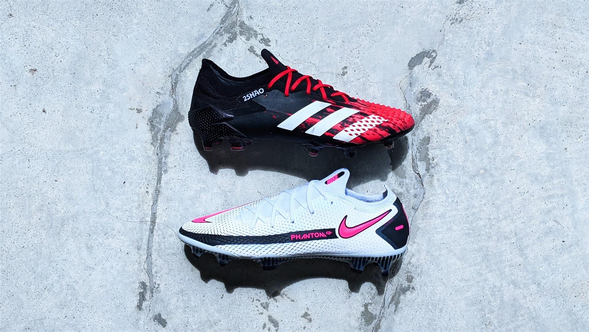 adidas predator vs nike phantom gt football boots soccer cleats review