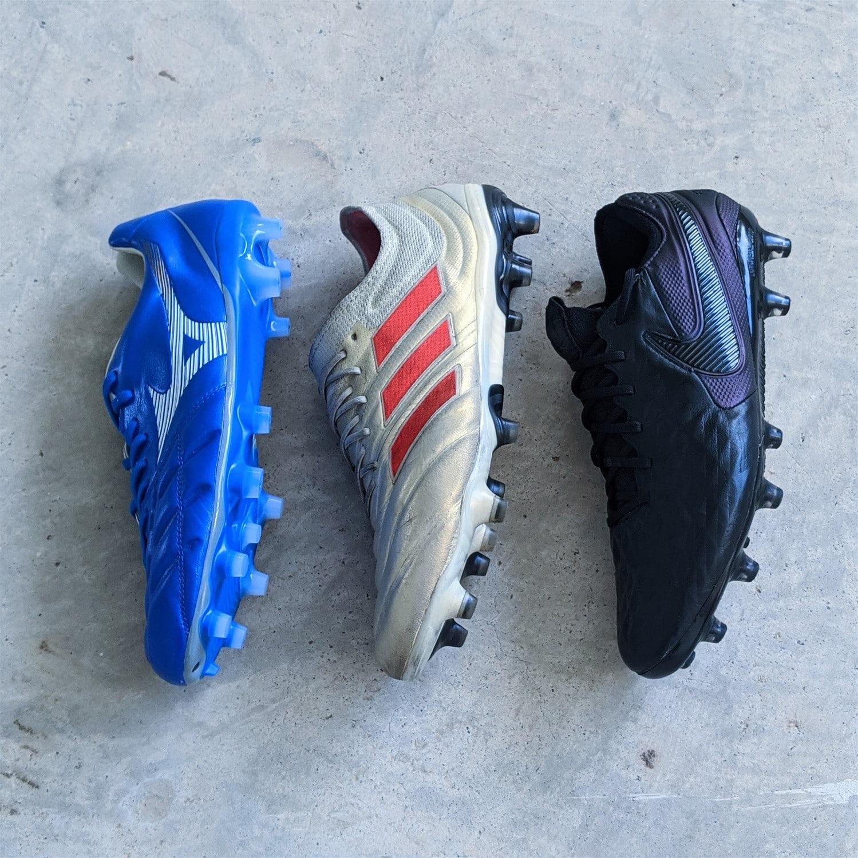 Leather football boots battle - adidas copa nike tiempo mizuno rebula cup