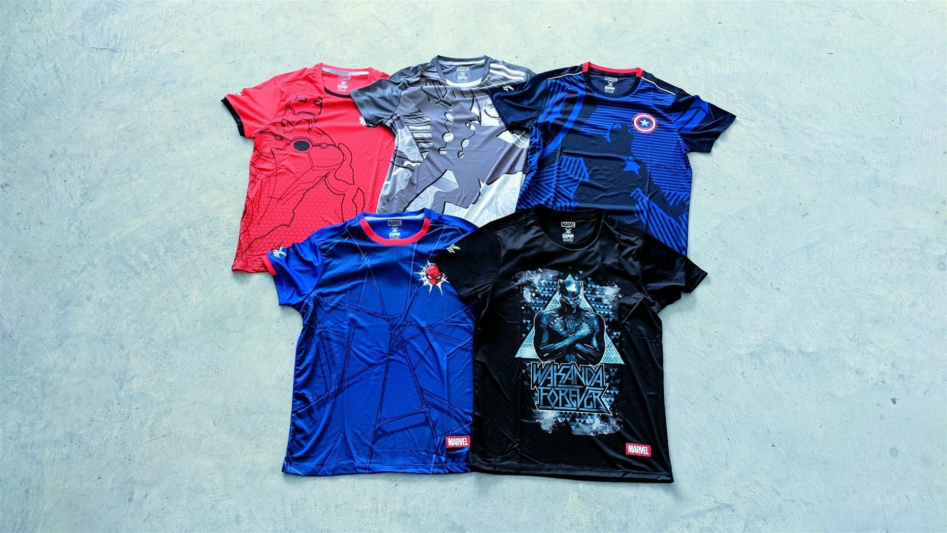 Marvel x FBT football jerseys