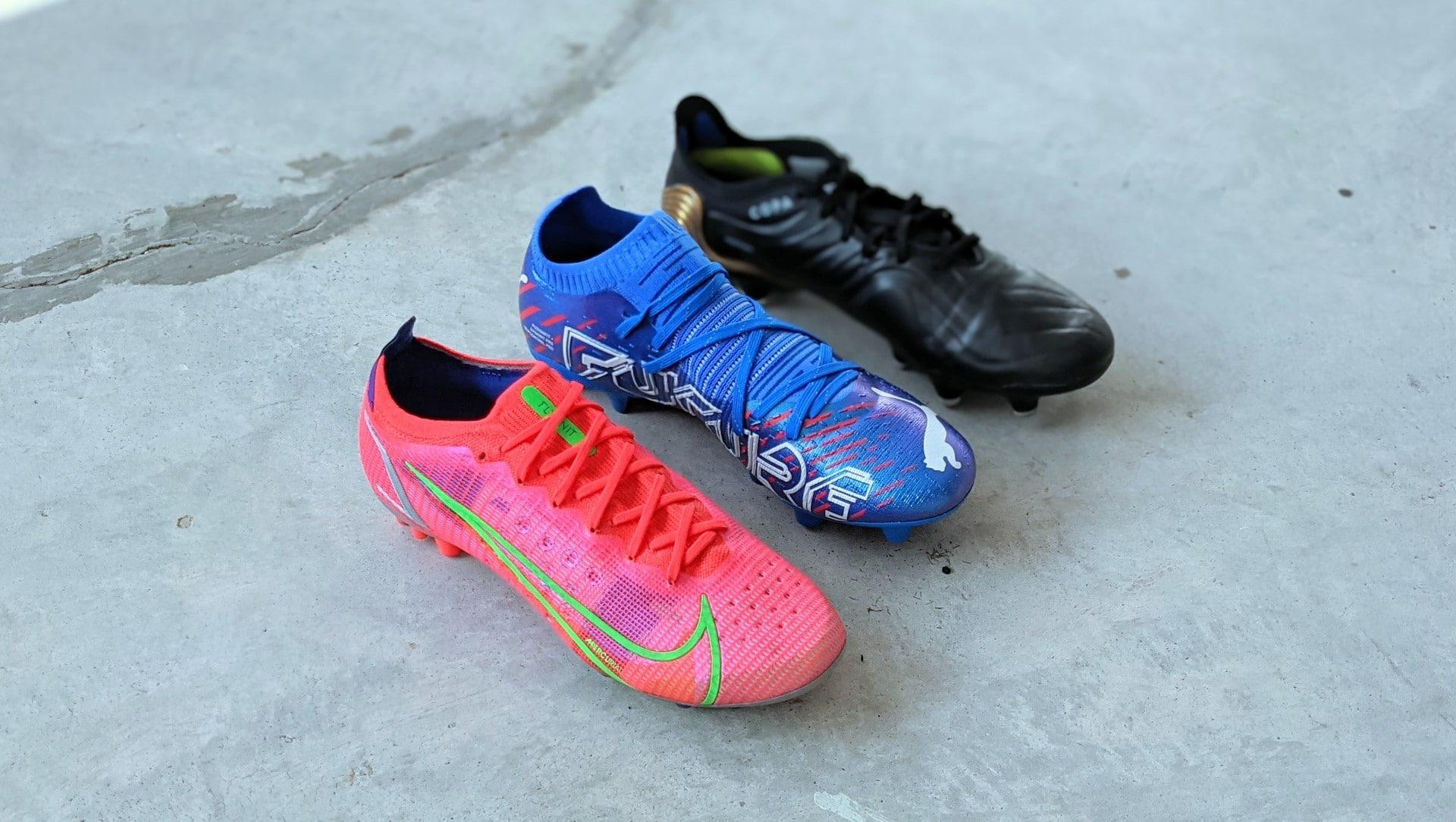 best football boots of 2021 nike mercurial puma future z adidas copa sense